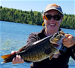 Trophy Smallmouth Bass Fishing by Pam Hamilton at Fireside Lodge